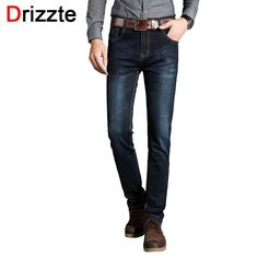 29.44$  Buy here - http://aiuk8.worlditems.win/all/product.php?id=32657057914 - Drizzte 2016 New Mens Stretch Black Denim Jeans Pants Fashion Slim Fit Best Jean Trousers for Mens
