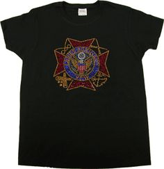 Adorable Ladies Auxiliary rhinestone t-shirt! New at the VFW Store - a big hit at the Mid-Year Conference! $19.95 rhineston tshirt
