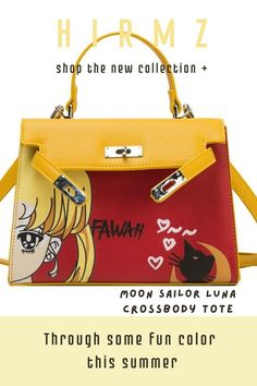 A minimalist silhouette gets a modern update with this moon sailor luna cat cute bag, which is crafted from sleek black and structure art design. Carry yours by the handles or put the adjustable strap on over your shoulder using the optional crossbody. #cutetotes #pursecutecasual #coolpurses #sailormoonart #funnysailormoon #crossbodypursemedium #pursecute #stylishbag Cute Crossbody Purses, Crossbody Tote, Trendy Purses, Unique Purses, Summer Purses, Look Fashion, Purses And Handbags, Tote Bags, Sailor