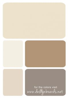 Color Board: Traditional Neutral | Design Boards  #sand #cream #caramelbrown
