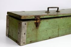 Vintage tool box / tackle box by Brimfieldfinds on Etsy, $60.00