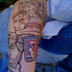 For AJ. Passport stamps as part of a travel tattoo sleeve 8531 Santa Monica Blvd West Hollywood, CA 90069 - Call or stop by anytime. UPDATE: Now ANYONE can call our Drug and Drama Helpline Free at 310-855-9168.