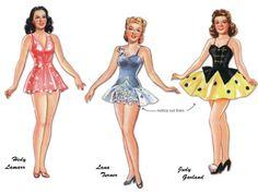 Ziegfeld paper dolls with wardrobe free from Teri Pettit