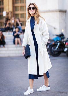 Street Style Duster Coat via @WhoWhatWear