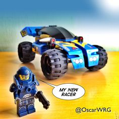 #LEGO_Galaxy_Patrol and his new #LEGO #Racer #8494