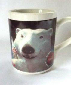 Coca Cola Mug Coffee Mug Cool Polar Bear by MoomettesCrochet