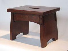 Craftsman inspired footstool.