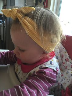 Childs Vichy jaune cochléaires implant bandeau