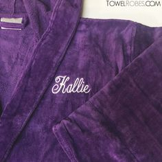 Let's embellish your purchase from towelrobes.com. Spoil yourself and your loved one with personalized plush robes. #towelrobes #personalized #embroidery #bathrobe