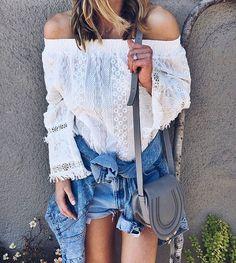 Lace + denim = outfit perfection @cellajaneblog