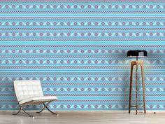Design #Tapete Pixel Winter In Lettland