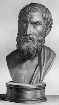 "Titus Lucretius Carus (ca. 99 BC – ca. 55 BC) was a Roman poet and philosopher. His only known work is the epic philosophical poem De rerum natura about the beliefs of Epicureanism, and which is translated into English as On the Nature of Things or ""On the Nature of the Universe""."
