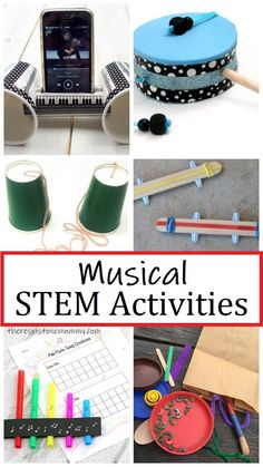 fun music STEM activities for kids of all ages #STEMactivities #STEMforkids #STEMchallenges Music Activities For Kids, Steam Activities, Team Building Activities, Fun Crafts For Kids, Drums For Kids, Music For Kids, Fun Music, Science Experiments Kids, Science For Kids