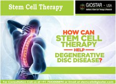 Know more about How Stem Cell Therapy can help for Degenerative Disorders at #GIOSTAR #INDIA
