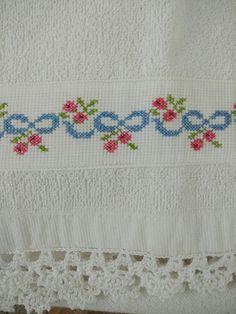 Cross Stitch Bird, Beaded Cross Stitch, Cross Stitch Borders, Cross Stitch Embroidery, Hand Embroidery Design Patterns, Baby Embroidery, Ribbon Embroidery, Crochet Bedspread, Pattern Design