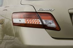 2010 Toyota Camry LE's Tail Light. Beautifully curved from back to the side.