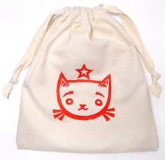 Great tutorial for making a drawstring bag! Now I want to make a ton of them...