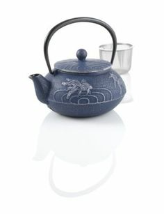 Japanese Goldfish Cast Iron Teapot - I have this in black, and it will only get better with time. The tea deposits minerals which enhances the flavor with every use!