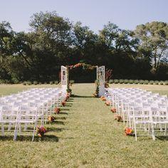 Color wedding. Ceremony, color, peonies