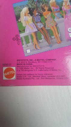 VINTAGE 1996 MATTEL BARBIE DOLL CLOTHING SETS - NEW Boxed | eBay 1980s Barbie, Vintage Barbie Dolls, Mattel Barbie, Doll Clothes Barbie, Doll Wardrobe, Doll Outfits, Ken Doll, Clothing Sets, Outfit Sets