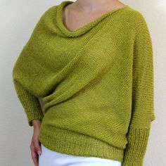 Belle Pullover Pattern from Knit Purl and knit in a DK weight ~ $7.00 PDF download