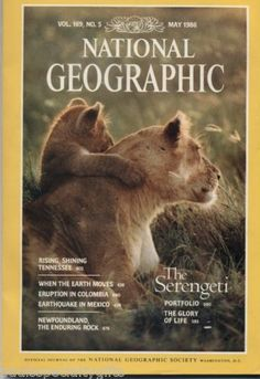 National Geographic Magazine May 1986 No Map Serengeti Eruption Colombia Mexico National Geographic Cover, Llama Face, 21st Century Fox, 3d Chalk Art, Photography Career, Science Articles, Maputo, Future Jobs, Dark Fantasy Art