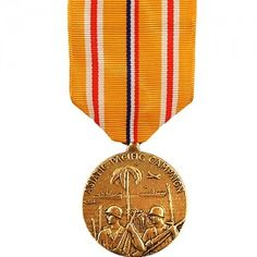 The Asiatic-Pacific Campaign Medal - WWII (ACPM) was awarded to any member of the United States Armed Forces who service in the Pacific Theater during World War II. It was created on November 6th, 1942 by President Franklin D. Roosevelt's Executive Order 9265. Additional awards of the medal are represented by a bronze star device worn on the award. There are 21 Army and 48 Navy and Marine Corps approved campaigns for this medal.
