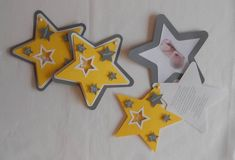 Items similar to Star themed invitation or announcement on Etsy Creations, Scrap, Invitations, Communion, Bb, Save The Date Cards, Handmade Gifts, Birthday, Birth