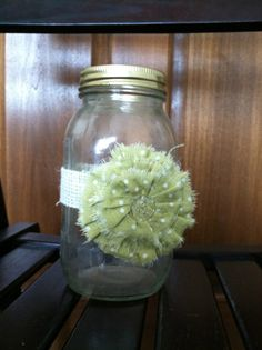 Items similar to Large Mason Jar Decor with your choice of flower for weddings or general beauty on Etsy Diy Ideas, Party Ideas, Craft Ideas, Large Mason Jars, Wedding Reception Table Decorations, Holiday Ideas, Project Ideas, Projects To Try, Backyard