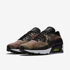 new styles eaf23 0bbfc Cheap Nike Air Max 90 Ultra 2 Flyknit Black Paramount Blue Volt Bright  Crimson Sale