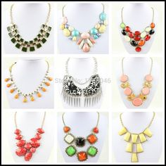Free shipping 2014 Mixed Styles Doll Bib Mixed Color Wholesale Chunky Statement Necklace In China-in Choker Necklaces from Jewelry on Aliexpress.com   Alibaba Group
