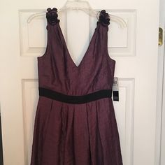 """Adrianna Papel """"Evening"""" dress Beautiful subtle shimmery purple color, fully lined, fitted top, a-line bottom, hits right above knee. Adrianna Papell Dresses"""