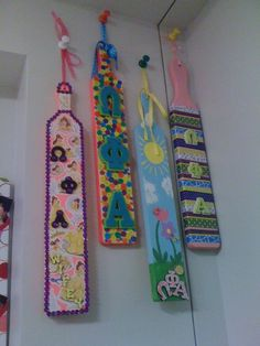 My paddles!    Love Omega Phi Alpha and the wonderful sisters who made these!