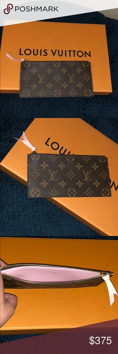 Louis Vuitton Louis Vuitton Zipper Money Pouch. Authentic. This pouch came with one of my purses & I don't use this much. Monogram with baby pink. This will not come with the box. I will package nicely. Bags Wallets