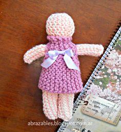 Beginning knitter doll