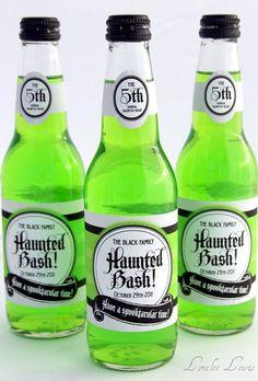 Halloween drink wrap labels