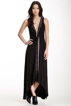 S.H.E. Lace Trim Hi-lo Maxi Dress