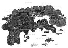 creatividads   Arte y diseño para representar países y regiones