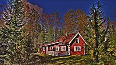 Das Haus Skogslund in Målerås in Småland / Schweden
