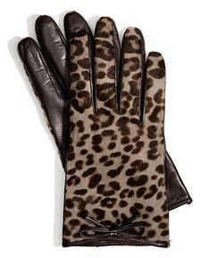 COACH OCELOT HAIRCALF BOW GLOVE - COACH - Handbags & Accessories - Macy's