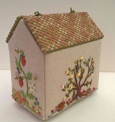 Embroidered workbox (back and side)