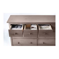 HEMNES 8-drawer dresser IKEA Extra roomy drawers. Smooth running drawers with pull-out stop.