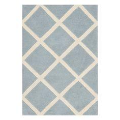 Safavieh CHT720B Chatham Wool Hand Tufted Blue/Ivory Rug