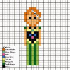 Frozen's Anna in coronation dress - Perler Mania Pattern