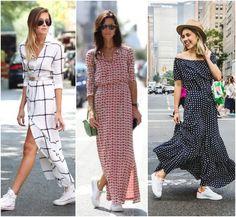 Long dress + tenis