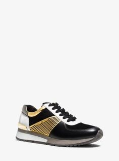 new product 97c05 6e2bd Allie Metallic-Trim Leather Sneaker   Michael Kors