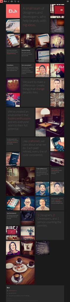 Unique Web Design, Etch Apps http://etchapps.com/ #Web #Design