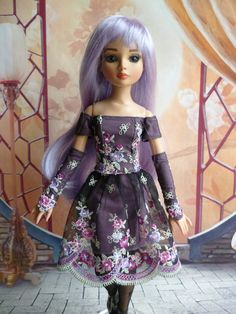 OUTFIT OOAK Skirt, Top & Mitts for ELLOWYNE Wilde Amber Lizette Cmi by Valentine78 via Etsy, (ships from France) €45.00/$61.86