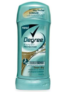 Degree Women Expert Protection in Linen Dry ($4) releases fresh-scented beads when you walk, run, or simply move. #degree #deodorant