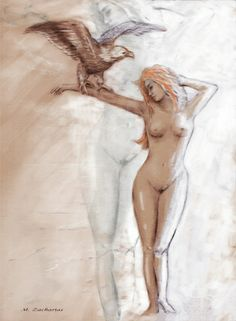 Nude woman nature symbolism - Oil painting hand painted, 50 x 70 cm, Original sold! As art print at different sizes by http://www.fineartprint.de/index2.php?page=image_preview1.php&image=11110241&own=1&produkt_id=artist&typ_id=2&view=1